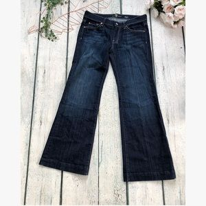 7 for all man kind Dojo jeans 28 dark blue flare